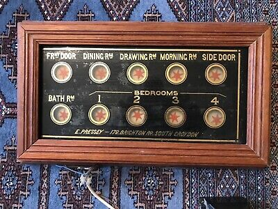 Servants or Butlers 10 way bell box