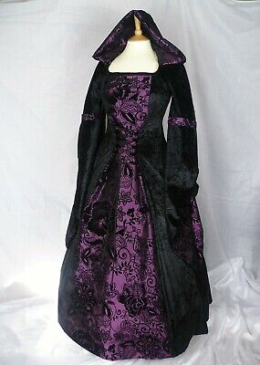 Gothic Hooded Dress Medieval Gown Renaissance Dress Ready Made