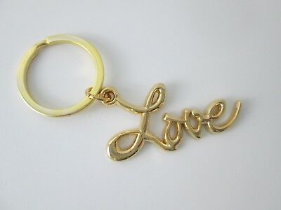 Sex and the City LOVE Key Ring/Chain Gold Plated Metal