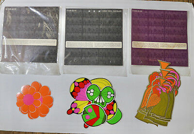 Rickie Tickie Stickies 1968 vintage mod stickers lot set of different designs