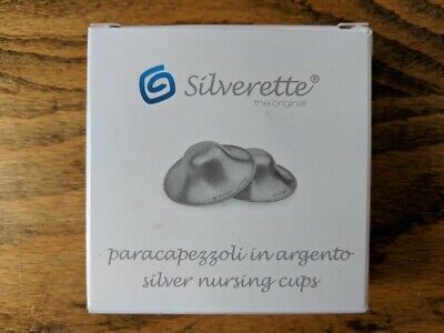 Breast Angels Silverette Silver Nursing Cups. Soothe sore / cracked nipples.