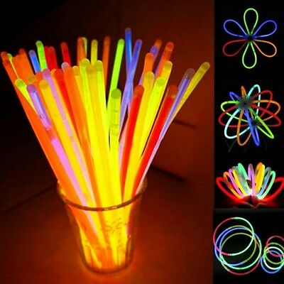 "Wholesale 8"" Glow Light Sticks Bracelet Necklace Multi Colorful Neon Party New"