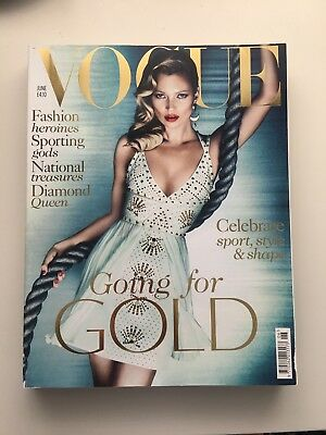 British Vogue Magazine June 2012 - Good Condition - Kate Moss