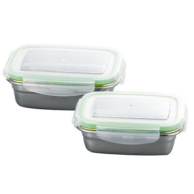 Food Fruit Fresh Keeping Large Capacity Stainless Steel Portable PP Lid Mess Tin
