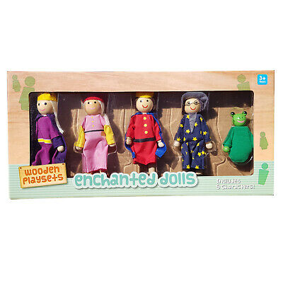Wooden Enchanted Dolls Bendable Dollhouse Toy Miniature