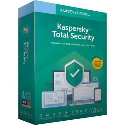 Kaspersky Total Security 2019 Vollversion, 1-10 Geräte, 1 oder 2 Jahre, Download