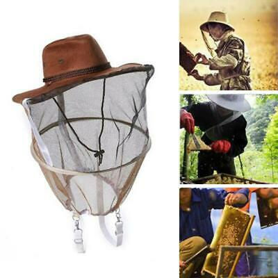 Beekeeping Beekeepers Cowboy Hat Mosquito Bee Insect Net Veil Face Head Protect
