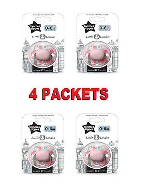 5 x TOMMEE TIPPEE Pink Pear 0-6 month Anytime Silicone Orthodontic Baby Soother