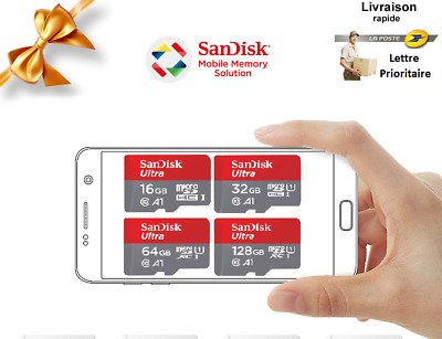carte memoire micro sd 16/32/64/128/256Gb SanDisk Ultra HC/XC class10 A1