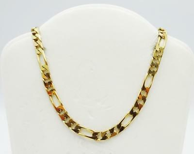 9ct Yellow Gold 375 Hall Marked Quality Figaro Chain 26inch 14.42g 4mm RRP £580