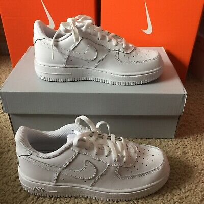 f4f62913b7d Nike Air Force 1 Ps Little Kids 314193-117 White Shoes Sneakers Youth Size 1