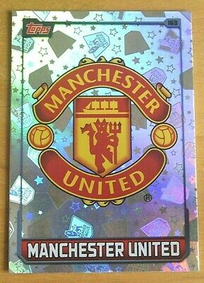 Topps MATCH ATTAX 2015/16 - MANCHESTER UNITED Club Badge Foil Card - Number 163.