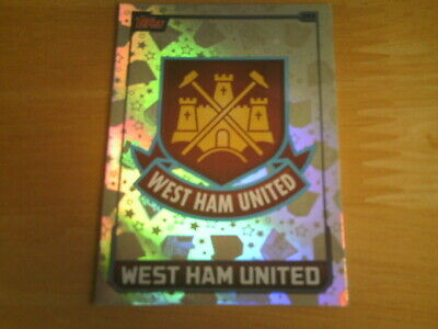 Topps MATCH ATTAX 2015/16 - WEST HAM UNITED - Club Badge Foil Card - Number 343.