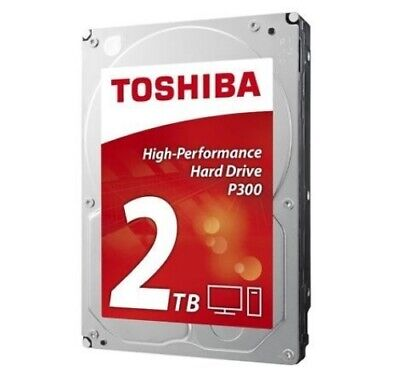 "NEW HDWD120UZSVA TOSHIBA P300 DESKTOP INT 3.5"" 2TB 7200RPM HDD....c."