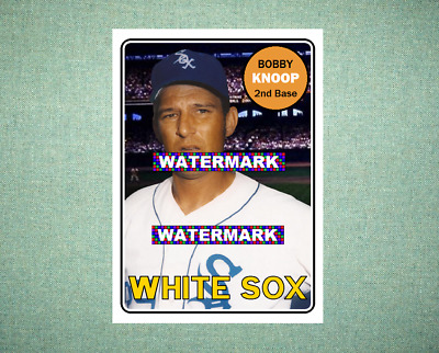 Ted Beard Chicago White Sox 1957 Style Custom Baseball Art Card Honkbal