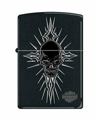 Zippo Harley Davidson Skull, Black Matte Genuine Windproof Lighter #218-CI012846