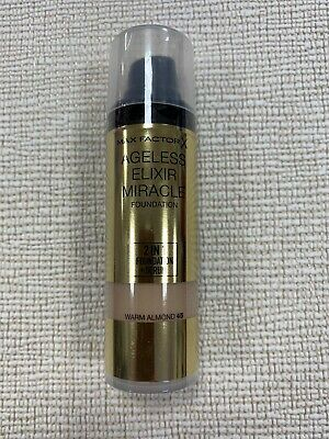 Max Factor Ageless Elixir Miracle Foundation N.45 Warm Almond.vintage