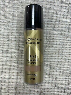 Max Factor Ageless Elixir Miracle Foundation N. 50.  Natural..discontinued.