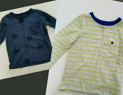 Baby Boy 18-24 Month Lot Of 2 Long Sleeve Tees Shirts EUC H&M Old Navy