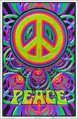 Peace Sign Blacklight Poster 23 x 35
