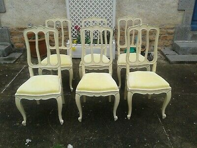 French antique vintage Louis Philippe style dining chairs