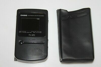 CASIO TV-470 LCD POCKET COLOR TELEVISION mit Tasche