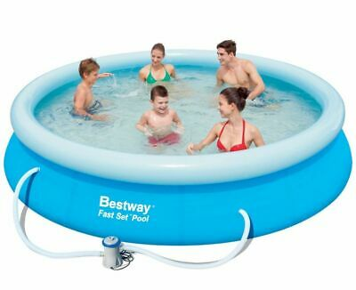 """Bestway 12ft Inflatable Swimming Pool & Pump 12' X 30"""" FAST SET & A FREE GIFT!"""