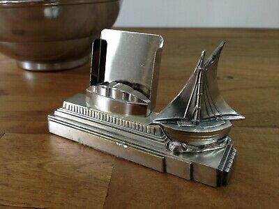 Original Art Deco French 1920's-1930's match holder/desk tidy