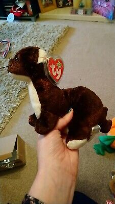 Ty Beanie Baby: Runner The Ferret. Perfect Condition. With Tag