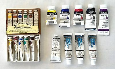 Lot of Vintage Acrylic Colors Winsor & Newton Liquitex The Art Store