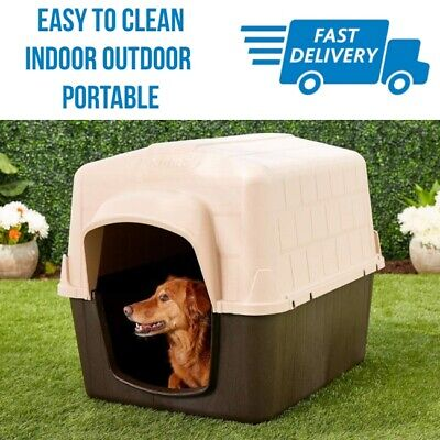 Small Outdoor Dogs House Outside Indoor Portable Dog Pet Puppy Cat Shelter Barn