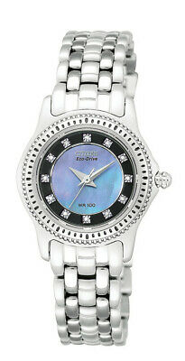 Citizen Eco-Drive Women's Crystal Accents Blue Dial 26mm Watch EP5620-59Y