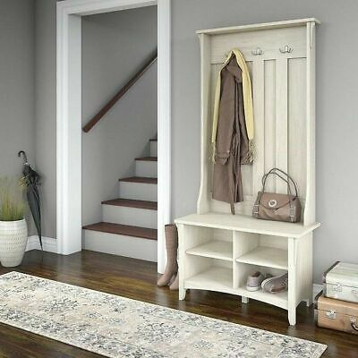 Astonishing White Entry Hall Tree Bench Front Door Coastal Farmhouse Andrewgaddart Wooden Chair Designs For Living Room Andrewgaddartcom