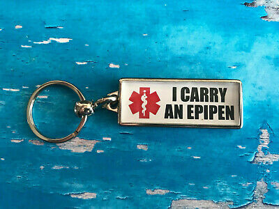 Personalised Awareness Metal Keyring - DOUBLE SIDED - Allergies - Add your info