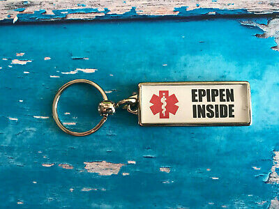Personalised AwarenessMetal Keyring - DOUBLE SIDED - Allergies - Add your info