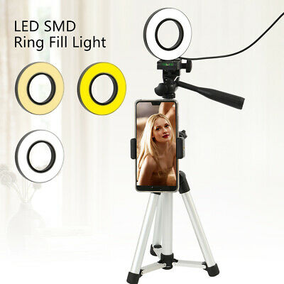 UK Camera Photo Studio Phone Video LED Beauty Ring Light Photography Dimmable