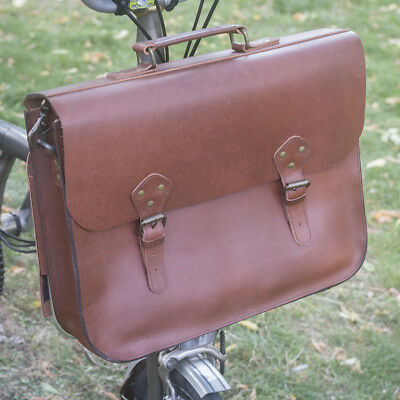 """Brown Color Brompton Carrier block Leather strap /""""HANDMADE/"""" Promotion Aug 2018"""