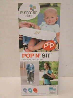 Summer Infant Pop N' Sit Portable Booster Seat Compact Fold W/ Carry Bag Nt 4818