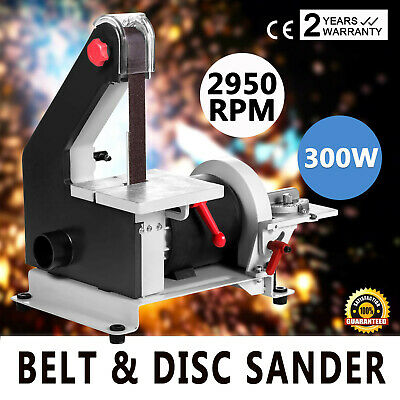 300w 230V GARAGE HOME DIY BENCH WORK TOP BELT DISC POWER SANDER SANDING MACHINE