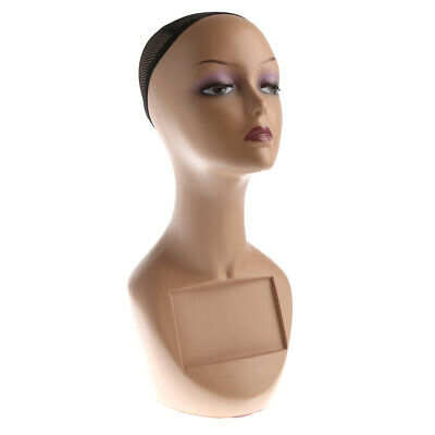 Female Mannequin Egg Head Bust Wig Hat Jewelry Display #MD-FEGGB