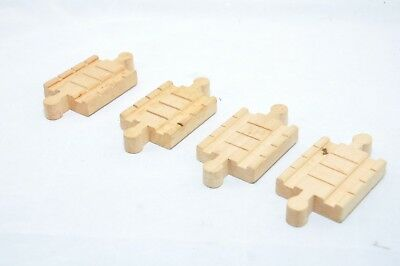 RARE TRACK ADAPTERS (set of four)  / Vintage RETIRED Thomas wooden train tracks