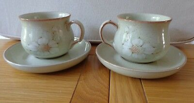 Denby Tea Cups and Saucers, Daybreak Design,  X 2