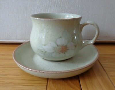 Denby Tea Cup and Saucer, Daybreak Design,