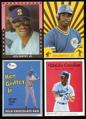 Ken Griffey, Jr. Early 1988-1991~ 8 Count Card Lot Seattle Mariners~BR
