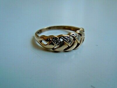 very RARE  imperial RUSSIAN 56 Gold RING with Diamonds, Faberge design 1915-17th