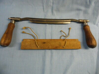 "VINTAGE JAMES SWAN CO. UNUSUAL  8"" DRAWKNIFE / SHAVE with ADJUSTABLE HANDLES!"