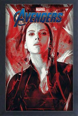 AVENGERS ENDGAME BLACK WIDOW 13x19 FRAMED GELCOAT POSTER MOVIE MARVEL COMICS NEW
