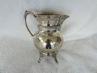 High Quality [Acme Silver Co.] Quadruple Silver Plate Large Pitcher~Toronto!!