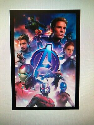 AVENGERS ENDGAME CHARACTERS 13x19 FRAMED GELCOAT POSTER MARVEL MOVIES COMICS!!!!