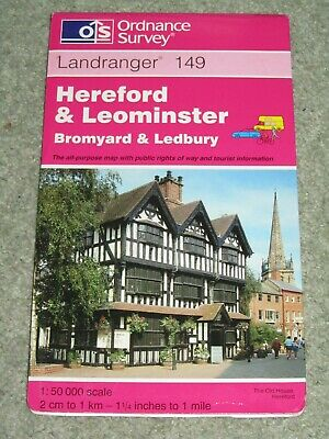 OS Ordnance Survey Landranger Map Sheet 149 Hereford & Leominster